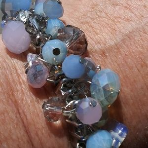 Blue and purple bead bracelet